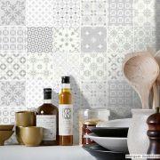 Adesivo Destacável Azulejo para Cozinha Aveiro Cinza Claro