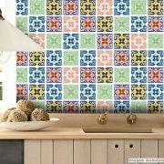Adesivo Destacável Azulejo para Cozinha Berga Coral