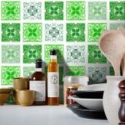 Adesivo Destacável Azulejo para Cozinha Berga Verde