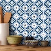 Adesivo Destacável Azulejo para Cozinha Blanes Azul