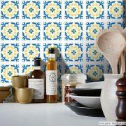 Adesivo Destacável Azulejo para Cozinha Braga Azul Claro