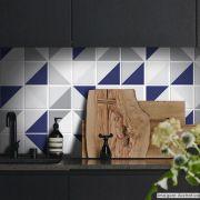 Adesivo Destacável Azulejo para Cozinha Retângulo Azul