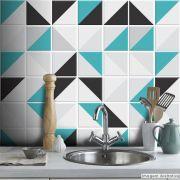 Adesivo Destacável Azulejo para Cozinha Retângulo Turquesa