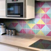 Adesivo Destacável Azulejo para Cozinha Triângulo Candy