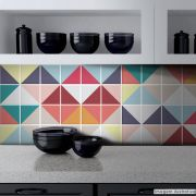 Adesivo Destacável Azulejo para Cozinha Triângulo Color