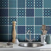 Adesivo Destacável Azulejo para Cozinha Turcos e Caicos