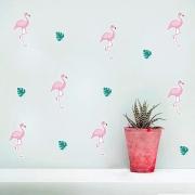 Adesivo Destacável Flamingos