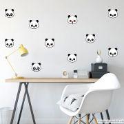 Adesivo Destacável Panda