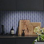 Adesivo Destacável Pastilha para Cozinha 3D Azul