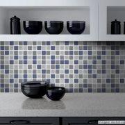 Adesivo Destacável Pastilha para Cozinha 3D Mix Azul