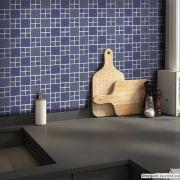 Adesivo Destacável Pastilha para Cozinha Big Azul