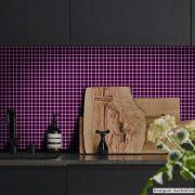 Adesivo Destacável Pastilha para Cozinha Clássica Roxo