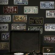 Adesivo Destacável Vintage Placas Automotivas