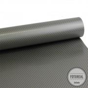 Adesivo para Móveis Fibra de Carbono 4D Grafite 0,50m