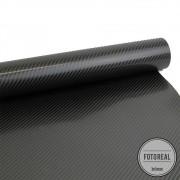 Adesivo para Móveis Fibra de Carbono 4D Preto 0,50m