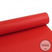 Adesivo para móveis Fibra de Carbono 4D Vermelho 0,50m