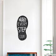 Adesivo Frase Step