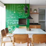 Adesivo Lousa Liso Sem Estampa Verde 0,50 x 2,50m + Giz Brinde