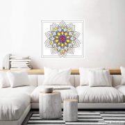 Adesivo para Colorir Mandala