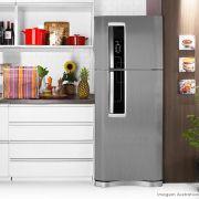 Adesivo para geladeira Escovado Grafite 1,22m