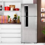 Adesivo para geladeira Escovado Prata 0,50m