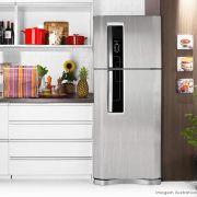 Adesivo para geladeira Escovado Prata 1,00m