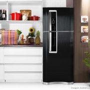 Adesivo para geladeira Escovado Preto 0,61m