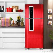 Adesivo para geladeira Escovado Vermelho 0,61m