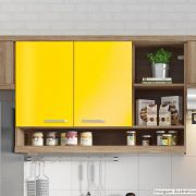 Adesivo para Móveis Brilhante Amarelo Médio 1,00m
