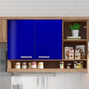 Adesivo para móveis Brilhante Azul Marinho 0,50m