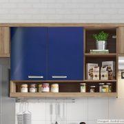Adesivo para móveis Brilhante Azul Noturno 1,00m