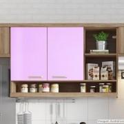 Outlet - Adesivo para móveis Brilhante Rosa Claro 0,61X2,00m