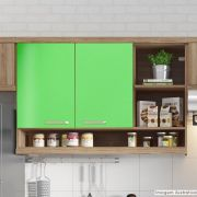 Adesivo para Móveis Brilhante Verde Abacate 1,00m