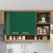 Outlet - Adesivo para móveis Brilhante Verde Folha 0,61m