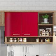 Adesivo para Móveis Brilhante Vermelho Radiante 1,00m