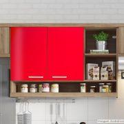 Adesivo para móveis Brilhante Vermelho Tomate 0,50m