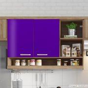 Adesivo para Móveis Brilhante Violeta 1,00m