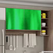 Adesivo para móveis Cromado Verde 0,61m
