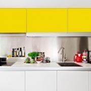 Adesivo para móveis Fosco Amarelo Canario 1,00m