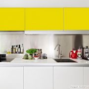 Adesivo para móveis Fosco Amarelo Canário 0,50m