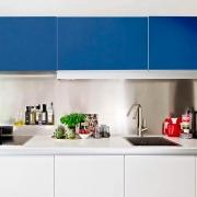 Adesivo para móveis Fosco Azul Indigo 0,50m