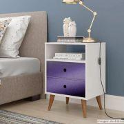 Outlet - Adesivo para móveis Krusher Purple Metallic 0,61m