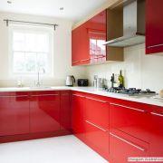 Adesivo para móveis Laca Alto Brilho Spicy Red 0,61m