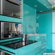 Adesivo para móveis Laca Alto Brilho Turquoise Green 0,61m
