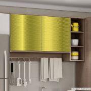 Adesivo para móveis Metallic Fibra 4D Ouro 0,53m
