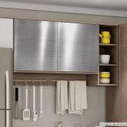 Adesivo para Móveis Metallic Fibra 4D Prata 1,06m