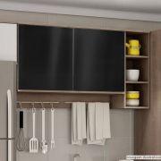 Adesivo para móveis Metallic Liso Preto 0,53m