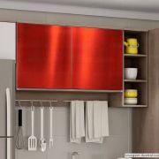 Adesivo para móveis Metallic Liso Vermelho 0,53m