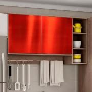 Adesivo para Móveis Metallic Liso Vermelho 1,06m