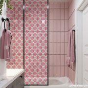 Adesivo Para Vidro Box Banheiro Jateado Decorado Arabesco Prova D'agua